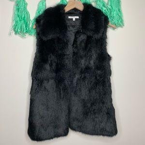 Rebecca Minkoff Ace Rabbit Fur Leather Vest